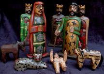 Hand Carved Nativity