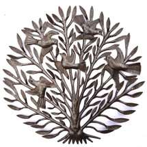 serenity garden art tree of life haiti metal art