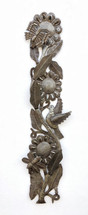"""Buzzing with Flowers, Flower Spring Vine, Home Living Decor, Haitian 6"""" x 29"""""""