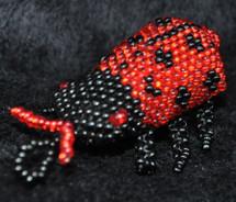 Beaded Lady Bug