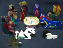Tin Painted Nativity