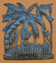 """Garden Palm - One of a Kind    12"""" x 13"""""""