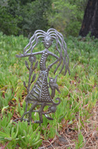 """Garden Stake, Right this way Girl   SM522   10"""" x 17"""""""