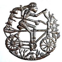 """Boy Riding a Bike  23"""" x 23"""""""