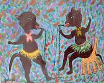 DOGS AT KAREOKE BY GERARD FORTUNE 1