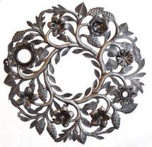 floral wreath garden decor