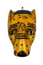 """Hand Carved Jaguar Mask 6.5"""" X 4.5"""" X 9.75"""""""