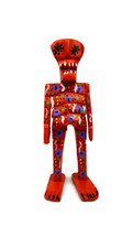 """Day of the Dead, Halloween Wooden Skeleton 7"""""""