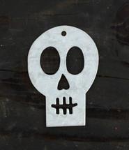 "Metal Skull Gift Tags (Set of 2)  3.5"""