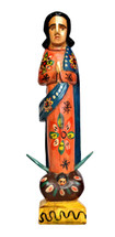 virgin mary saint, wooden madonna sculpture, religious latin folk art, handmade in guatemala