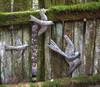 Haitian Metal Art Birds in a Flock Flying