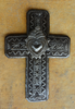 Small religious cross with milagro, wall cross collection