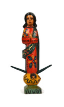 Folk Art wooden virgin mary