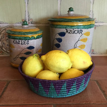 Mexican baskets in use in kitchen