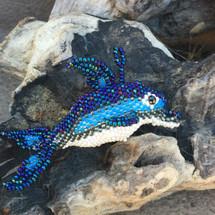 beaded Dolphin hand made Guatemala