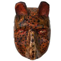 hand carved Jaguar mask Guatemala