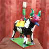 Whimsical Unique Mexican Folk Art Lamp Base