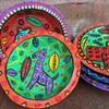 hand made brightly painted bowls Guatemala