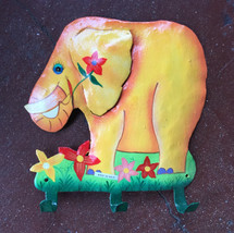 Hand painted Elephant wall hook