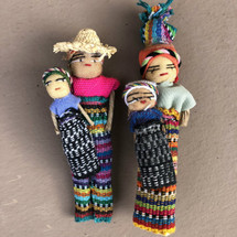 """Guatemalan Worry Doll Magnets  4"""" set of 2"""