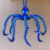 Octopus Royal Blue, Ornament, Hand Beaded made in Guatemala  fair trade
