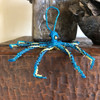 Octopus Sapphire Blue, Ornament, Hand Beaded made in Guatemala