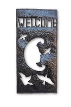 Welcome Sign, Birds, Moon, One-of-a-Kind, Limited Edition, Unique, Sustainable, Eco-Friendly, Recycle, Recyclable, Fair Trade, Help Haiti, Fight Poverty, Handcrafted, Handmade