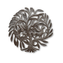 Tree of Life, Birds, Family Tree, Metal, Steel, Oil Barrel Drums, Handcrafted, Handmade, Sustainable, Eco-Friendly, Limited Edition,
