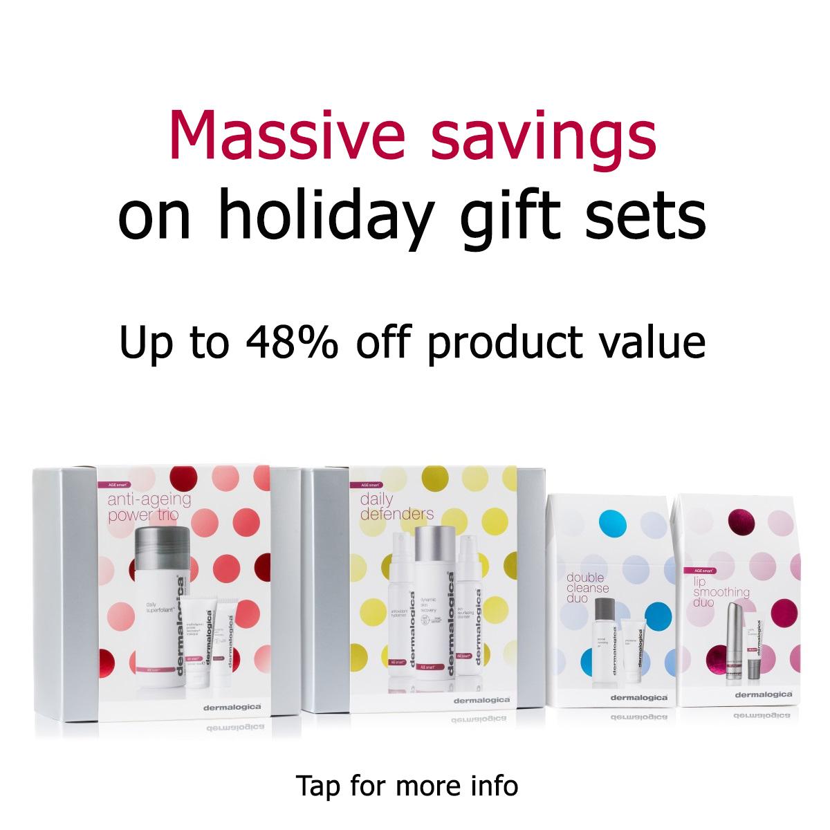 up to 48% off dermalogica gift sets
