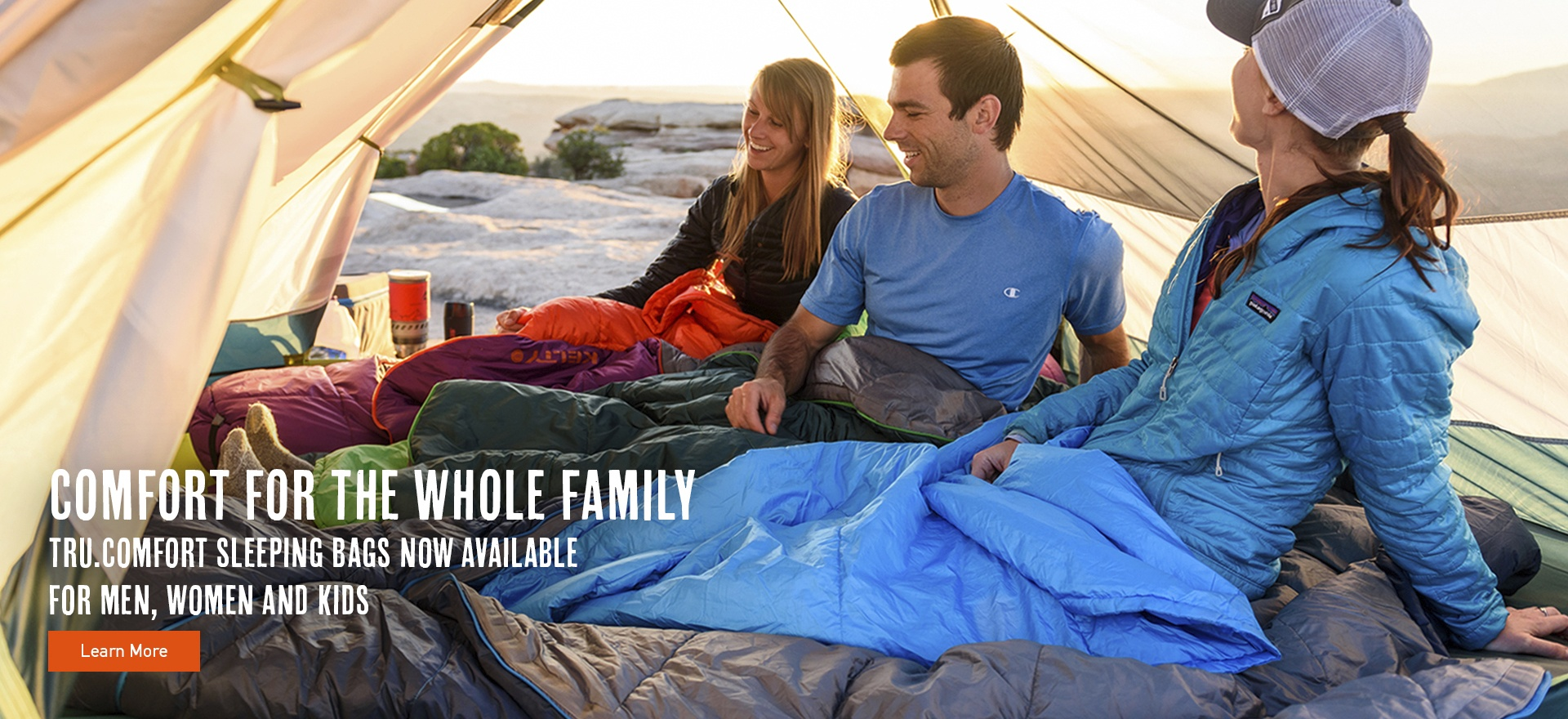 New Tru.Comfort Sleeping Bags Now Available for Men, Women and Kids