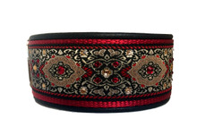 "1.5"" Bulgaria Crimson Swarovski Collar"