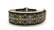 "1.5"" Black and Gold Toulon Swarovski Collar"