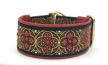 "1.5"" Scarlet and Gold Toulon Swarovski Collar"
