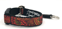 "Fire Paisley 1"" Private Prong Collar"