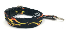 "Flames 1"" Private Prong Collar"