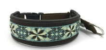 "1.5"" Smoke and Chocolate Pinwheel Elite Private Prong Collar"