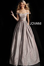 Jovani 66950.  Off the Shoulder Prom Ballgown. Available in: Dustyrose.