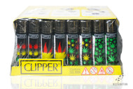 Clipper Lighter Mixed Leaf Black