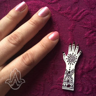 Mini Acrylic Hand - set of 25