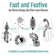 Sample - Free henna designs from Fast and Festive by Henna Harpy - www.ArtisticAdornment.com