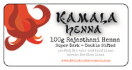 Kamala Henna - super intense, dark color Rajasthani henna powder.