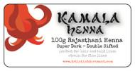 Kamala Henna - super intense, dark color Rajasthani henna powder.