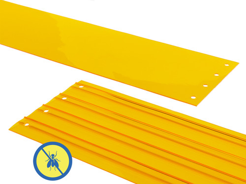 Insect Yellow PVC Strip Door Replacement Strips