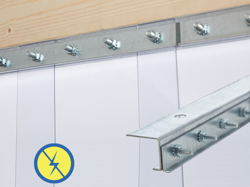 Anti-Static Jamb Mount Strip Door Kit