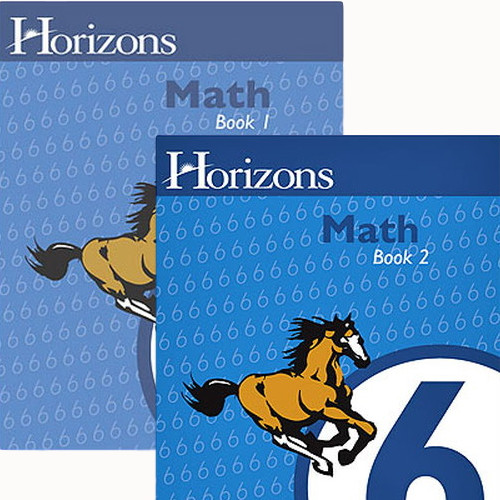 HORIZONS 6th Grade Math Student Books 1 & 2 Set