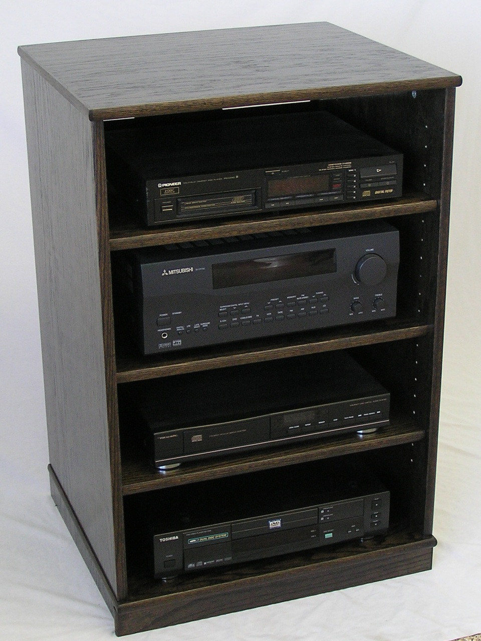 Ebony Oak Tv Stand Stereo Cabinet 33 Inches High
