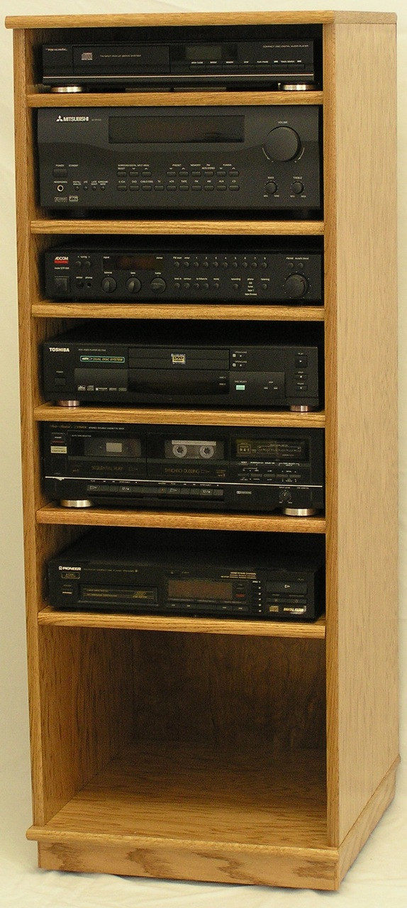 modern component stereo cabinet 53quot high oak maple free