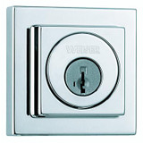 3471 Single Cylinder Deadbolt in Polished Chrome