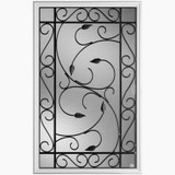 22 In. x 36 In. Pergola Iron Glass Insert