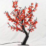 32 Inch  Red LED Lighted Tree with 196 LEDs; AC Adaptor